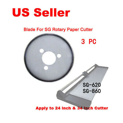 "​3PCS Replacement Blade for SG Brand 24"" 34"" Rotary Trimmer Cutter"