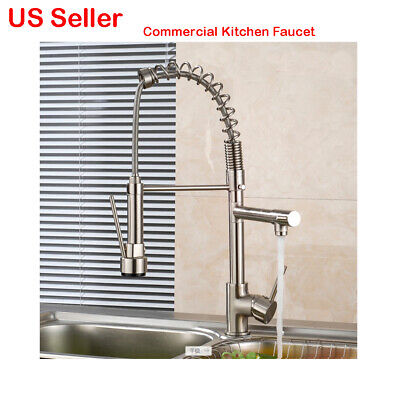 ?New Commercial Heavy Duty Kitchen Faucet Professional Hot Cold Water