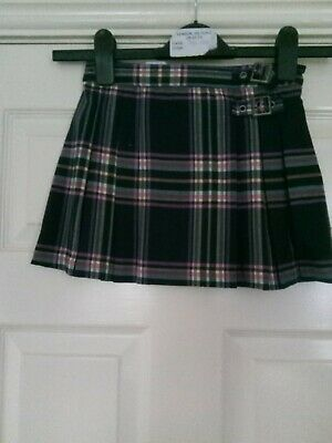 Girls Kilt Skirt By Next, Dark Grey & Pink, UK Size Age 4..