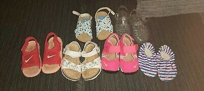 Infant Girls Size 6 Summer Shoe Bundle nike rifts and sunray