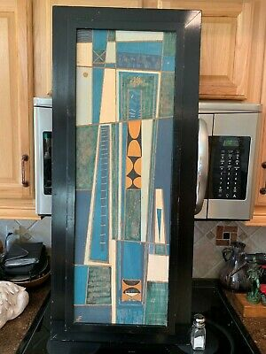 Vintage Antique Abstract Mid Century Modern Oil Painting On Wood Beautiful Rare