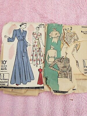Vintage 10 Cents, 1930's DuBarry Sewing Patterns Size 16