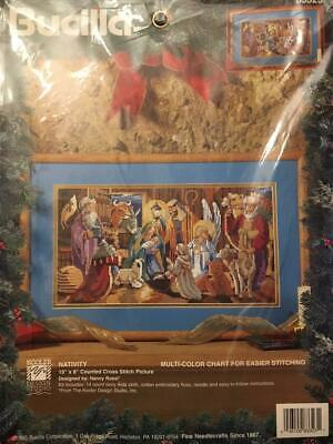 Bucilla NATIVITY 15 x 8 insdesigner Nancy Rossi Kit multi colour chart B3323 NEW