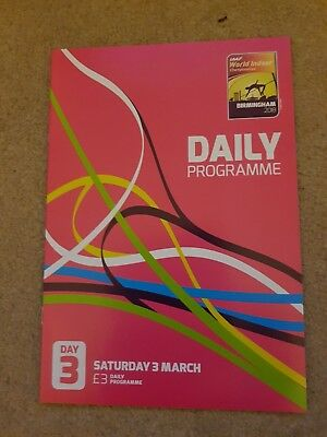 2018 IAAF World Indoor Athletics Championships Daily Programme: Day 3