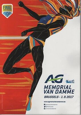2017 AG Memorial Van Damme Programme: Athletics/Track & Field: IAAF Diamond Lge