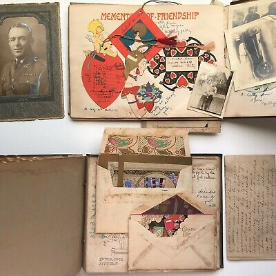 Two 1930s Vintage Scrapbooks w/ Photos, Letters, Ephemera,Wilmington NC Nice Lot