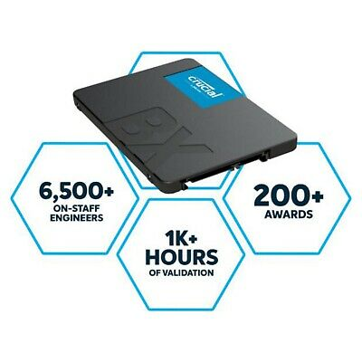 Crucial BX500 480GB Internal SSD 2.5 inch CT480BX500SSD1 Solid State Drive