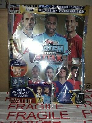 Match attax trading cards 19/20 starter pack