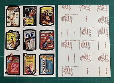 2019 Lost Wacky Packages VARIATION 5th Series UNCUT Sticker SHEET RED LUDLOW