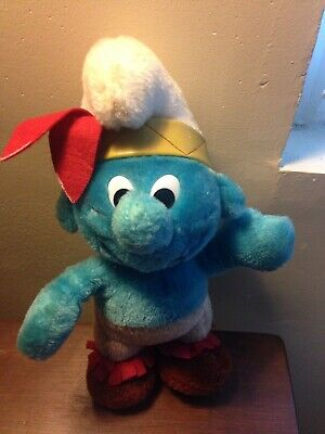 Vintage Smurf Indian Plush Doll