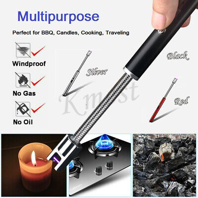 ARC Flameless USB Lighter BBQ Windproof Portable Kitchen Candle Rechargeable
