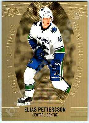 2019-20 UD TIM HORTONS GOLD ETCHINGS ELIAS PETTERSSON INSERT CARD # GE6 Mint BV