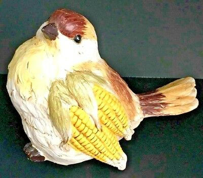 TII Collections Large Resin Handpainted Harvest Bird J4364