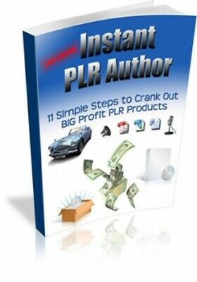 Instant PLR Author PDF eBook with Master Resell Rights MRR