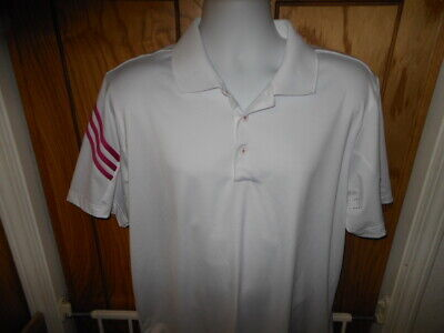 Adidas PureMotion Mens LARGE Short Sleeve Athletic Polo Golf Shirt