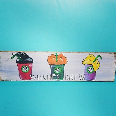 Hocus Pocus Reclaimed Wood Witches Brew Sign