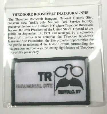 Theodore Roosevelt Inaugural NHS Patch Embroidered Historical TR President New