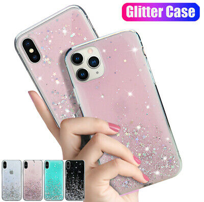 Case For iPhone 11 Pro Max X XR Bling Sparkle Clear Soft TPU Silicone Back Cover