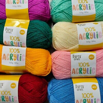 100g Knitting Yarn 8 ply Acrylic yarn Soft Porta yarn Good Quality