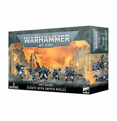 Warhammer 40k Space Marines Scouts with Sniper Rifles Marine Scout 40,000