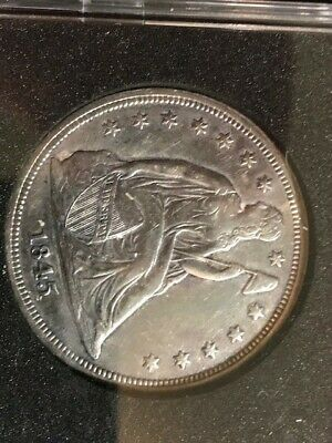 1845 Seated Liberty Silver Dollar