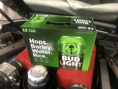 Bud Light Area 51 12 Pack Green Alien Can Very Limited