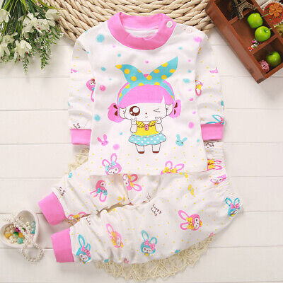 Kids Sleepwear Trousers Tops Children Pajamas Baby Cartoon Autumn Christmas Gift