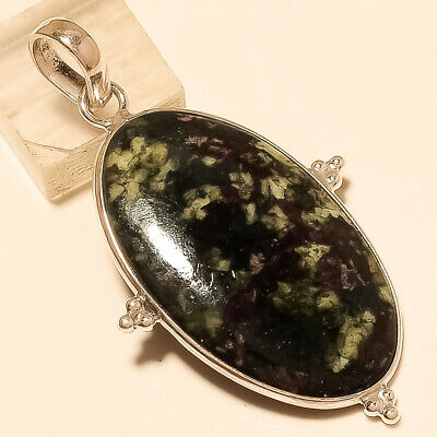 Natural Mexican Moss White Agate Pendant 925 Sterling Silver NewYear Jewelry New
