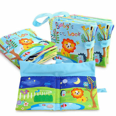 Baby Developmental Toys Soft Cloth Books Education Toys Animal Cloth Book Gifts