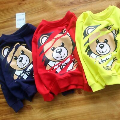 2019 Fashion Kids Boy Girls Cute Bear Long Sleeve Sweatershirt Hoodie Jacket