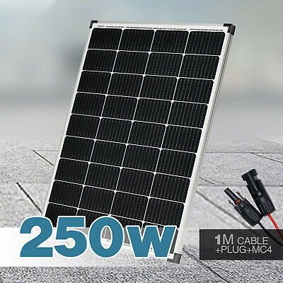 250W 12V Single Solar Panel Battery Charger Power Mono Portable Camping Boat