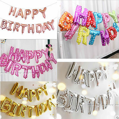 Large Happy Birthday Self Inflating Balloon Banner Bunting Party Decoration Yb