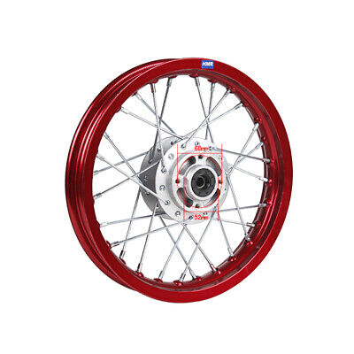 HMParts Alu -Felge  Eloxiert 12  Zoll vorne Rot China Dirt Pit Bike Moto Cross