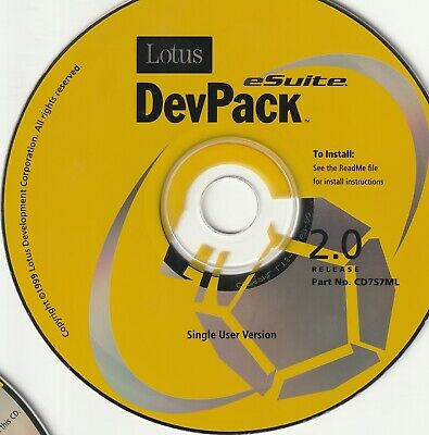 Classic Pc Software - Lotus Package - Inc. Notes, EasySync Pro, Devpack (12 Disk