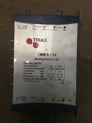 Triax TMM 5x12, 5 in 12 out, Cascade Multiswitch, Part# 305395, Flat/Maisonette