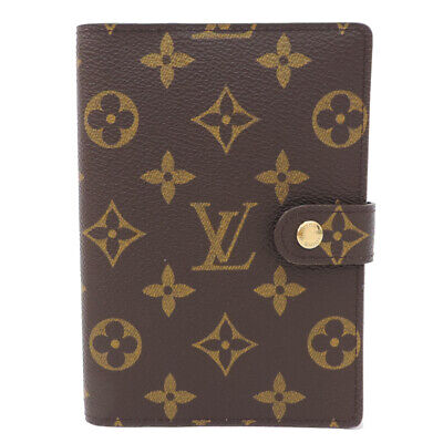 LOUIS VUITTON Agenda PM R20005 Day Plannne Cover Brown Canvas