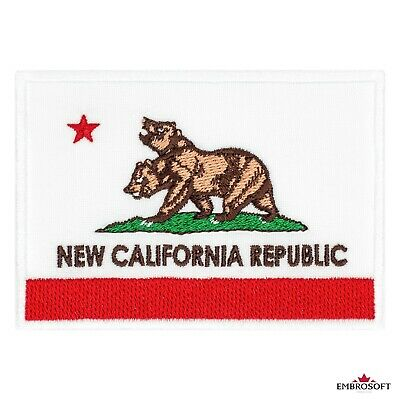 """Fallout New California Republic Flag Game Emblem Embroidered Patch Iron 4""""x2.8"""""""