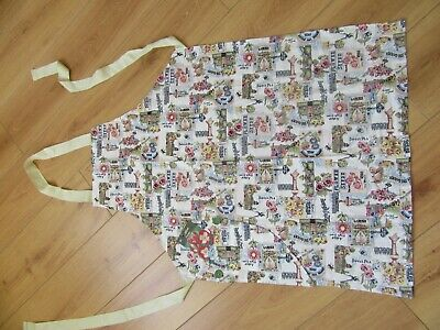 Hand Made Adult Apron - Gardening Design With Pocket Containing Flower Seeds