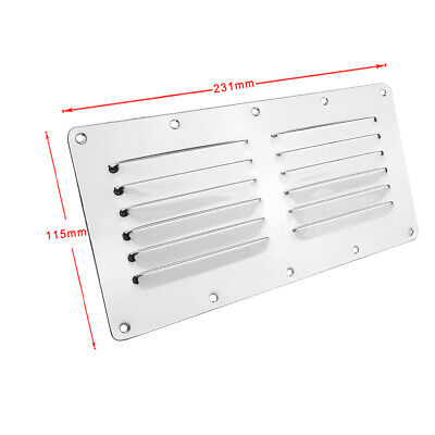 GOOD WEIGHT LOUVRE VENT WITH MOSQUITO NET MESH STAINLESS STEEL 63mm DIAMETER