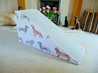 40cm High Pet Ramp Large/Dachshund Fabric/Grey Carpet