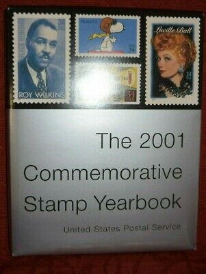 USPS  2001 Commemorative STAMP YEARBOOK  WITH stamps / collection INSIDE