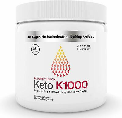 Keto K1000 Electrolyte Powder | Boost Energy & Beat   (Raspberry Lemon, 1-Pack)