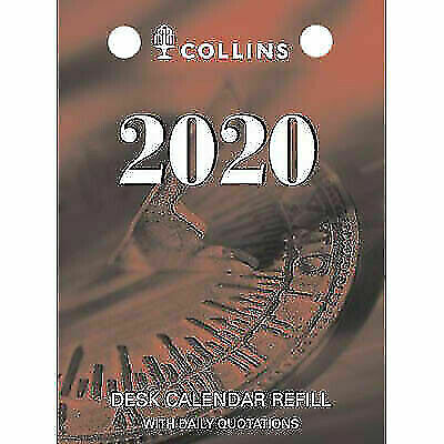 2020◉Collins◉Desk Calendar Refill◉TOP Punch◉DCRT-20◉Day To A Page DTP◉Refills◉Oz