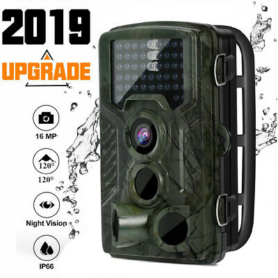 16MP Trail Camera IP66 Waterproof Outdoor Hunting Cam & IR Led Night Vision TO