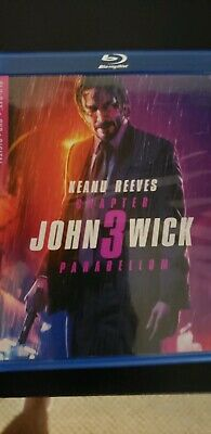 John Wick Chapter 3 Parabellum Blu-Ray  W/case & Cover! + logan bluray disk