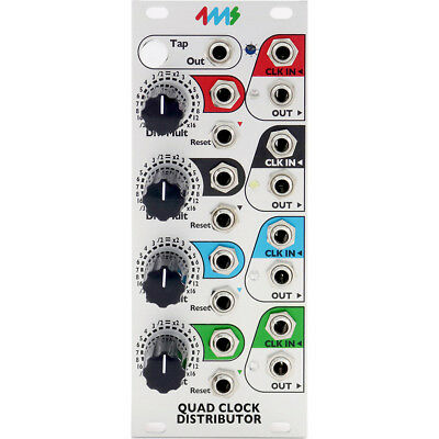 4ms Quad Clock Distributor Eurorack Module rev 2 (QCD)