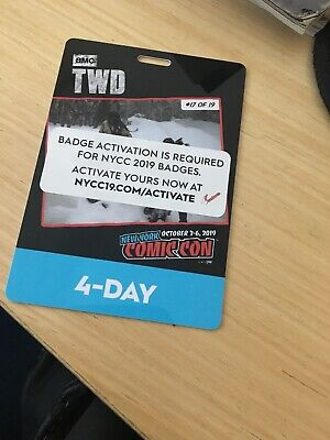 New York Comic Con 4 Day Pass NYCC 2019 Javits NYC Badge Ticket ACTIVATED