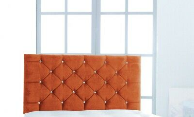 "5ft King Size Pendle 28/"" High Teal Velvet Deep Buttoned Headboard"