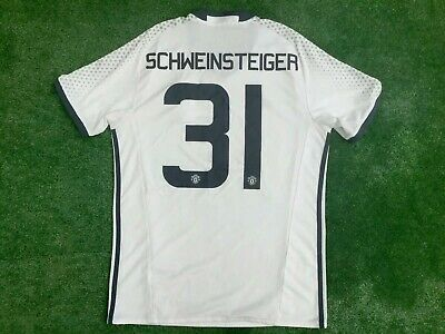 MANCHESTER UNITED 2016-17 AWAY 3rd SHIRT SCHWEINSTEIGER No 31 MEDIUM ADULT