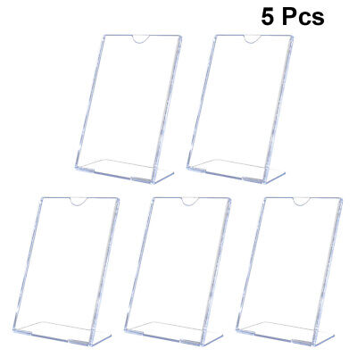 5pcs L Shape Slanted Sign Holders Desktop Photo Paper Menu Holder Display Stands